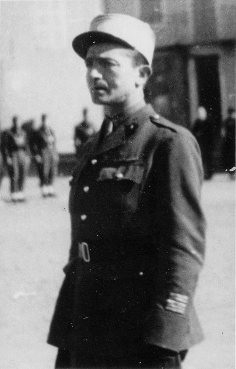 Le Colonel Marc O'Neill, chef de corps du 2e Régiment de Hussards 1945
