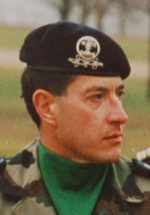 Le Colonel Bertrand Ballarin, chef de corps du 2e Régiment de Hussards 1997-1999
