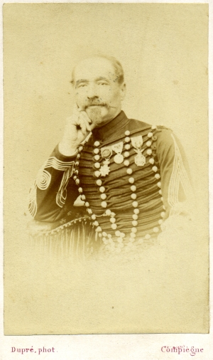 Le lieutenant-colonel Paul Carrelet au Régiment des Chasseurs de la Garde 1866 - Source www.military-photos.com