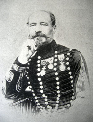 Le Colonel Carrelet chef de corps du 2e Régiment de Hussards