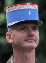 Le Colonel Guillaume Danès, chef de corps du 2e Régiment de Hussards 2011-2013