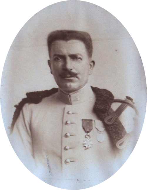 Le Colonel Gouget de Landres chef de corps du 2e Régiment de Hussards 1904-1908